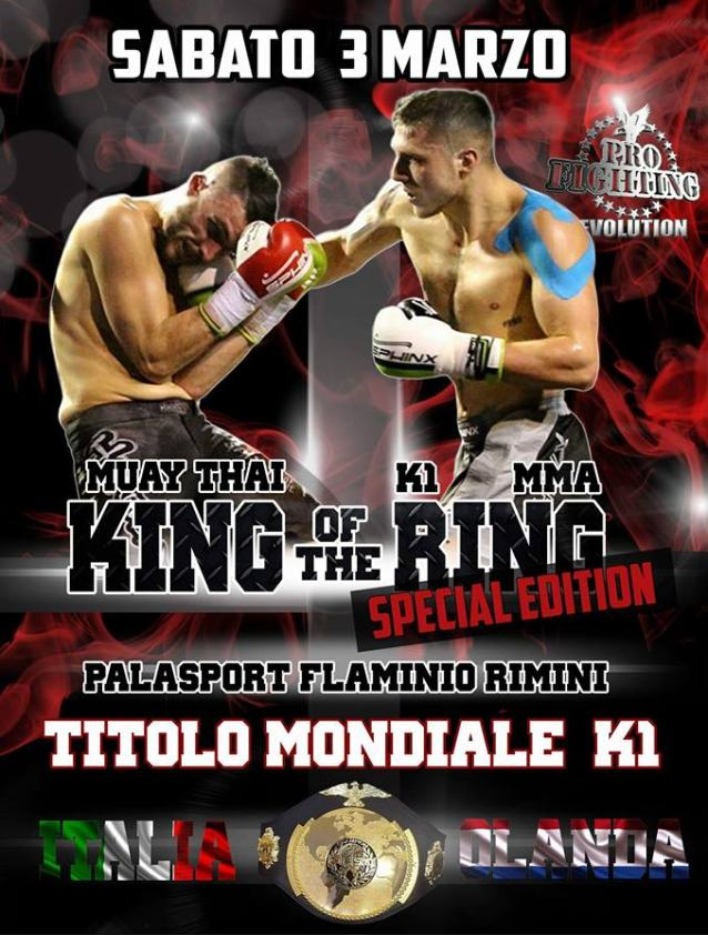 Nicola Severi playbill for Muay Thai K-1 World Championship